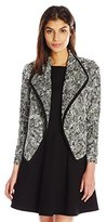 Vince Women's Cotton Boucle Drape Neck Jacket