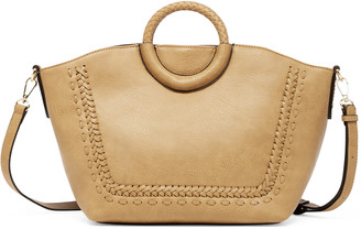 Sole Society Women's Anora Tote Vegan Leather Tote Camel From