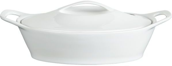 Crate & Barrel Oval Casserole with Lid