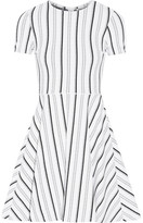 Opening Ceremony Clos Striped Textured-jersey Mini Dress - White