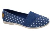 Blue Floral Slip-On Shoe