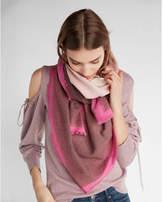 Express ombré square oblong scarf