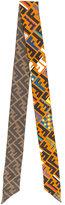 Fendi logo print skinny scarf