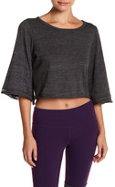 Alo Gleam Bell Sleeve Crop Pullover