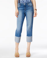 Style&Co. Style & Co Aztec Embroidered Capri Jeans, Only at Macy