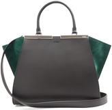 Fendi 3Jours contrast-panel leather and suede bag