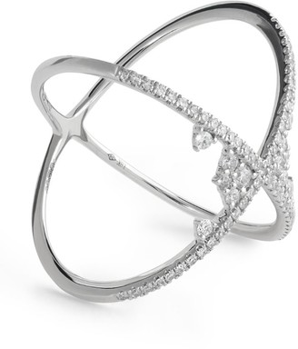 Djula White Gold And Diamond Fairy Tale Cross Ring