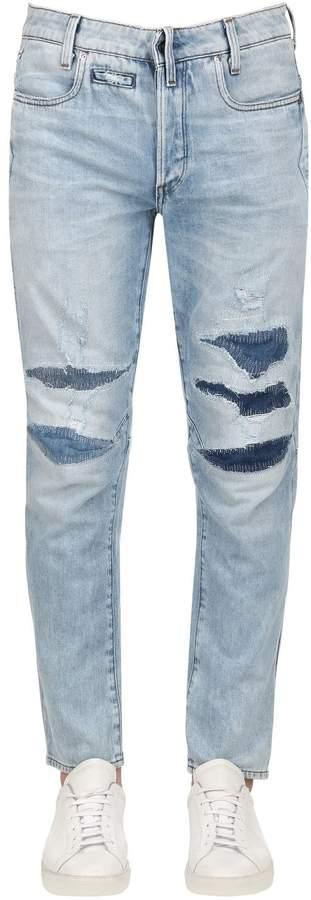 G Star G-Star D-Staq 3d Tapered Washed Denim Jeans