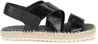 Vince Tenison Snakeskin-Embossed Leather Espadrille Sandals