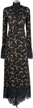 Paco Rabanne Floral-Print Fitted Dress