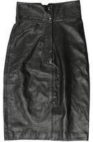 Mara Hoffman Leather Pencil Skirt