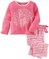 "Osh Kosh Oshkosh Bgosh Girls 4-14 Snow Days"" Top & Striped Bottoms Pajama Set"