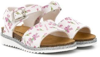 MonnaLisa Floral Print Sandals