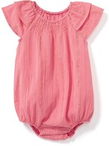Old Navy Sparkle Striped Bubble Romper for Baby