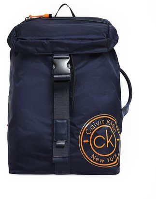 Calvin Klein Navy Blue Backpack Whit Flap