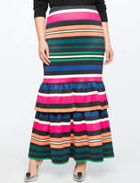 ELOQUII Trumpet Maxi Skirt with Ruffle