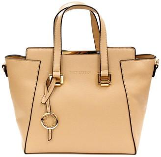 Suzy Levian Saffiano Faux Leather Satchel Bag