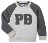 Petit Bateau Boys sweatshirt in two materials