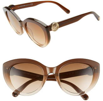 Roberto Cavalli 53mm Gradient Cat Eye Sunglasses