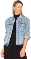 Levi's Palm Embroidered Denim Jacket. - size S (also in XS)