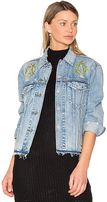 Levi's Palm Embroidered Denim Jacket.