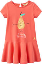 Joules Jessica Cotton Dress - Pink, Size 2-3y