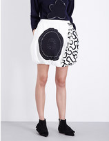J.W.Anderson Quilted balloon georgette skirt