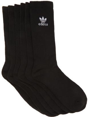 adidas Six-Pack Black Solid Crew Socks