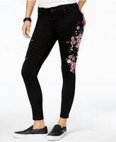 Celebrity Pink Juniors' Embroidered Skinny Jeans