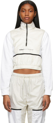 Nike White and Beige Sportswear Archive Rmx Jacket
