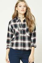 Forever 21 Boxy Flannel Plaid Shirt