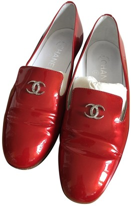 Chanel Red Patent leather Flats