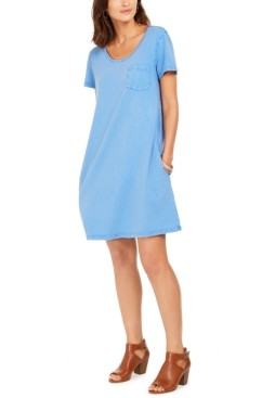 Style&Co. Style & Co One-Pocket T-Shirt Dress, Created for Macy's