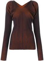MM6 MAISON MARGIELA ribbed V-neck sweater