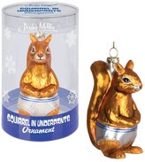 Accoutrements Squirrel Underpants Glass Ornament