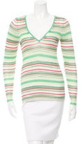 Missoni Striped Rib Knit-Trimmed Top