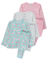 George 3 Pack Assorted Printed Pyjamas