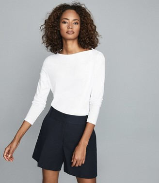 Reiss Marilyn - Straight Neck Top in White