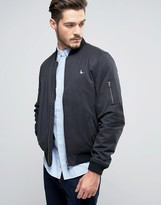 Jack Wills Rame Bomber Jacket In Black
