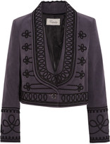Temperley London Voyage embroidered cotton-corduroy jacket