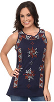 Scully Sophia Embroidered Tank Top