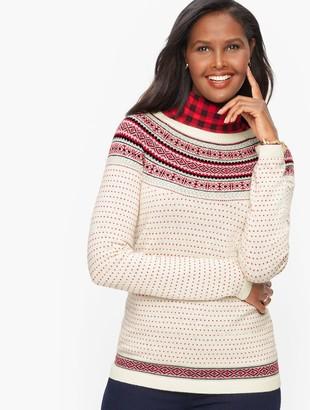 Talbots Nordic Fair Isle Crewneck Sweater