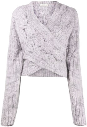 Nina Ricci Cable Knit Wrap Jumper