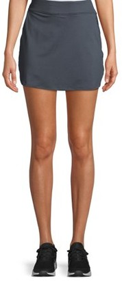 Avia Women's Active Performance Skort with Side Zipper and Bike Shorts