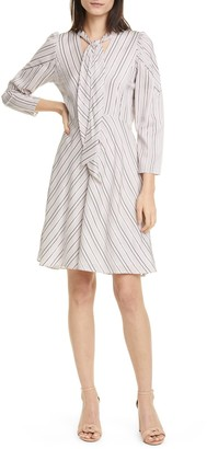 Tailored by Rebecca Taylor Long Sleeve Stripe Dress