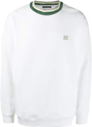 Acne Studios face patch crew neck sweatshirt