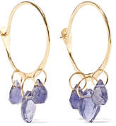 Melissa Joy Manning 14-karat Gold Iolite Hoop Earrings