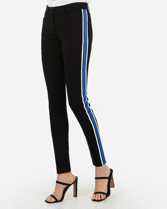Express Mid Rise Side Stripe Skinny Pant