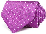 Turnbull & Asser White Dot Wide Tie