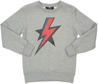 Neil Barrett Thunder Print Cotton Sweatshirt